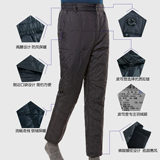 Bosideng down pants men wear middle-aged and old people down pants men's high waist wear thick down pants men