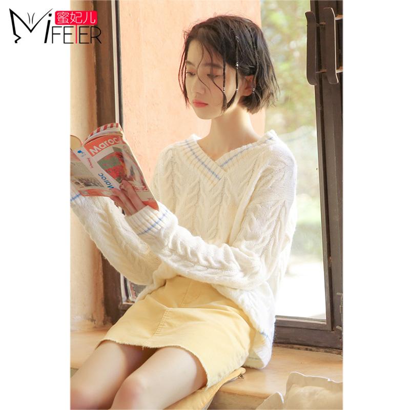 韩版宽松线衣女