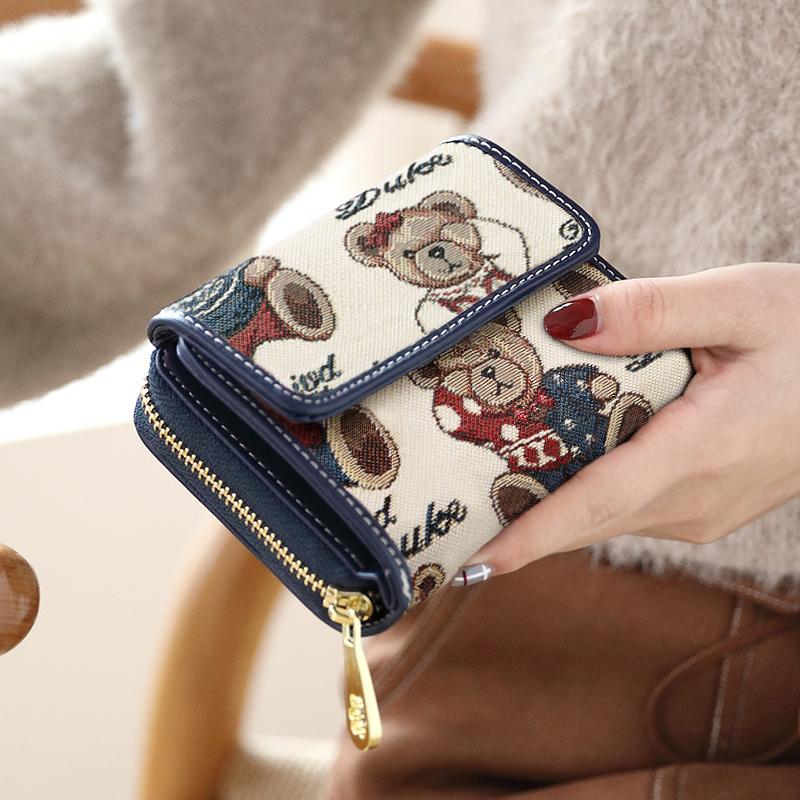 钱包女短款2019新款韩版潮学生小清新女士可爱小钱包手拿包零钱包