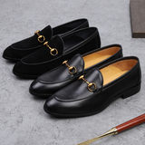 2019 new business casual shoes men's leather England a pedal lazy set foot Lok Fu shoes trend small shoes