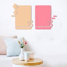 北欧创意小鱼组合毛毡留言板照片墙背景墙幼儿园作品软木板展示板