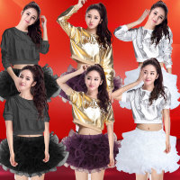 舞蹈服装现代成人女青春演出套装跳舞表演街舞衣服啦啦队学生裙子