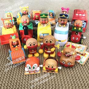 日本面包超人玩具小火车按压发条巴士小飞机回力工程车挖掘机现货