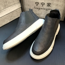 Men's Shoes Autumn 2019 New High-Up Shoes, Leather Shoes, Men's Korean Edition Fashion Martin Boots, Leisure Shoes