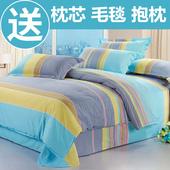 网红床单被套1.8m米床上 蝉梦罗莱家纺四件套全棉纯棉简约夏季特价图片