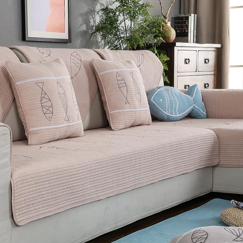 寒号鸟纯棉布艺沙发垫