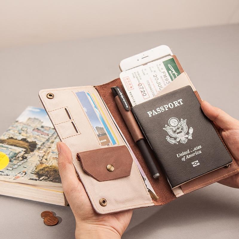 钱包护照真皮