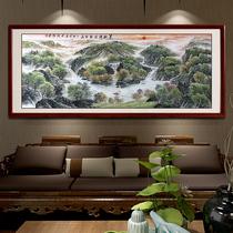 万财归宗国画山水画风水靠山办公室手绘字画客厅中式装饰画预售