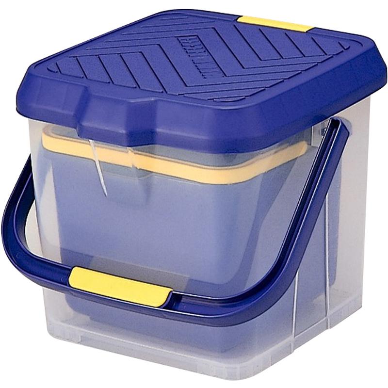 日本进口户外座椅钓箱收纳箱车用水桶钓鱼桶可站立洗车桶