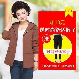 女土短款风衣外套2019新款风衣40岁50中老年女装春秋薄款洋气上衣