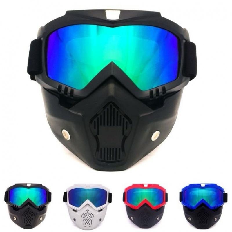 哈雷复古头盔风镜 面罩风镜 越野摩托车护目镜 复古风镜