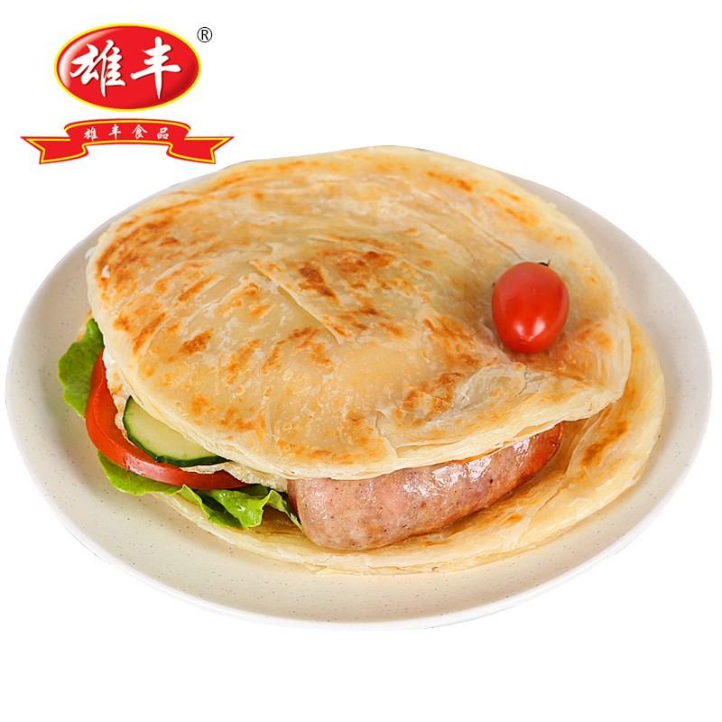 雄丰原味手抓饼面饼家庭装30片x100g手撕饼早餐饼煎饼