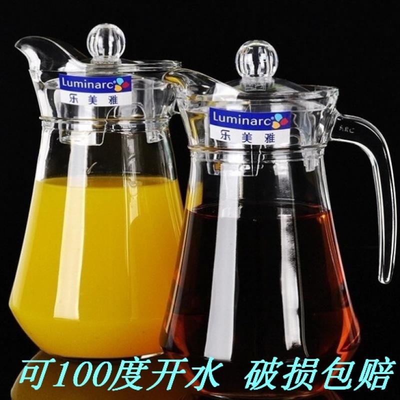 家用耐热玻璃鸭嘴壶扎壶果汁饮料壶耐高温开水壶茶具杯套装
