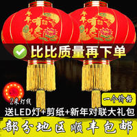 New Year Chinese New Year Spring Festival outdoor door hanging lantern door decoration red flocking palace lanterns indoor balcony lantern