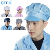 Anti-static cap white dust-proof hat labor insurance dust-proof big work hat female dust-free hat workshop work cap male blue