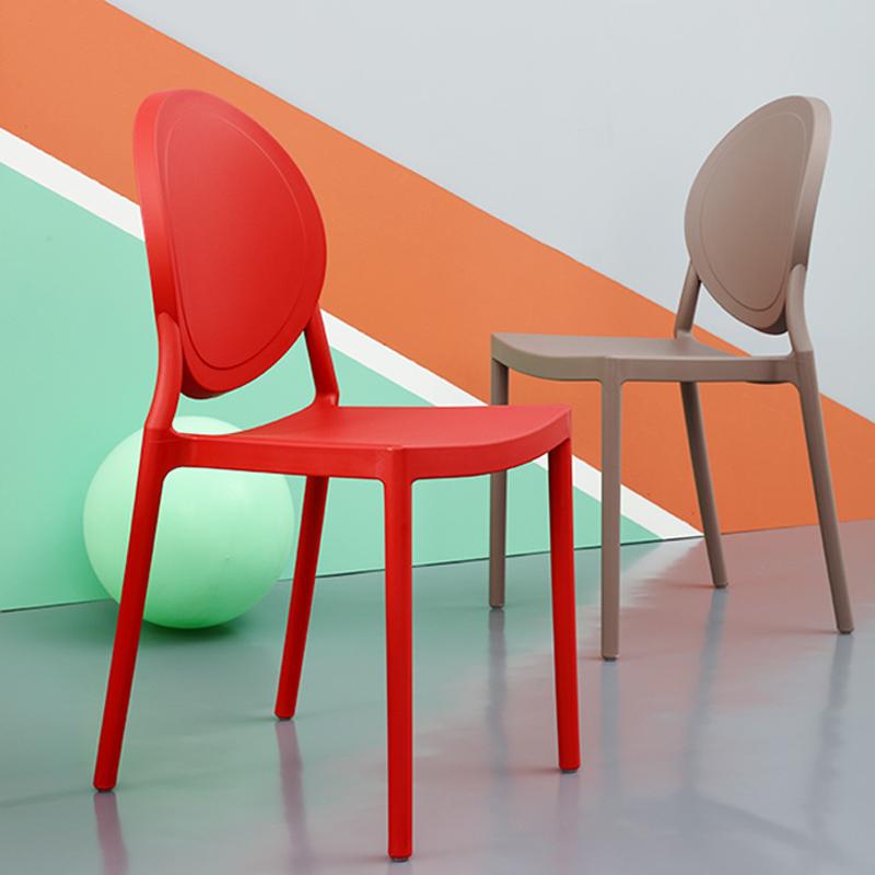 北欧餐椅 ins网红椅宜家椅子塑料靠背椅现代简约家用阳台休闲椅凳