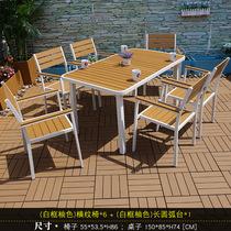实木餐桌椅正方形阳台休闲咖啡馆餐饮家具厂家复古loft铁艺户外