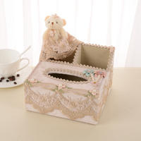 Multi-function tissue box remote control basket storage basket paper pumping box desktop storage cartoon