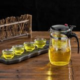 Floating cup teapot heat-resistant glass tea ceremony cup one-click filter teapot office tea set Lingling cup