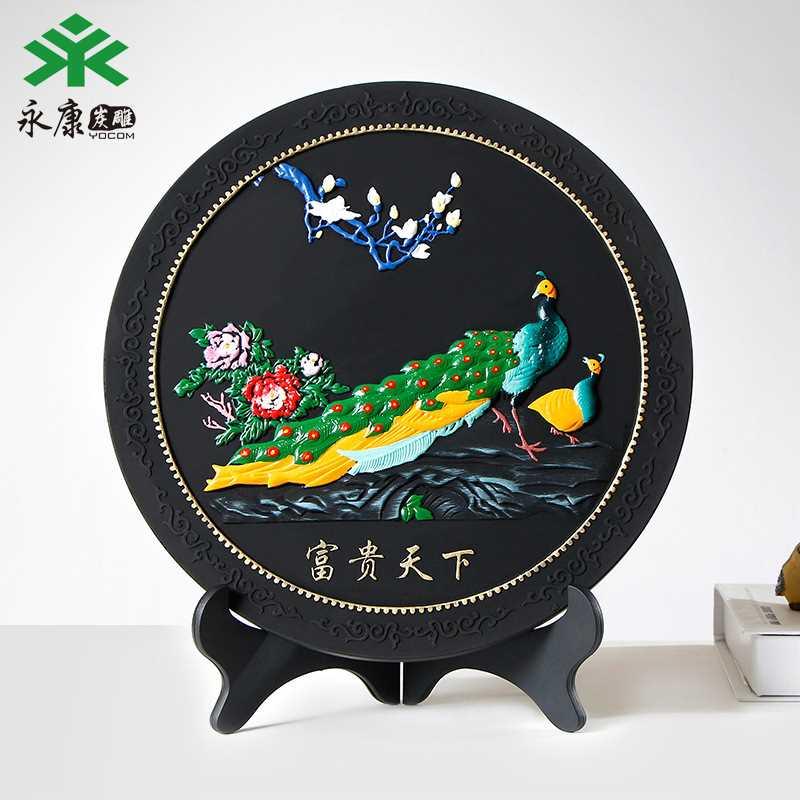 创意家居摆件活性炭工艺品东南亚孔雀除异味甲醛摆件竹炭包
