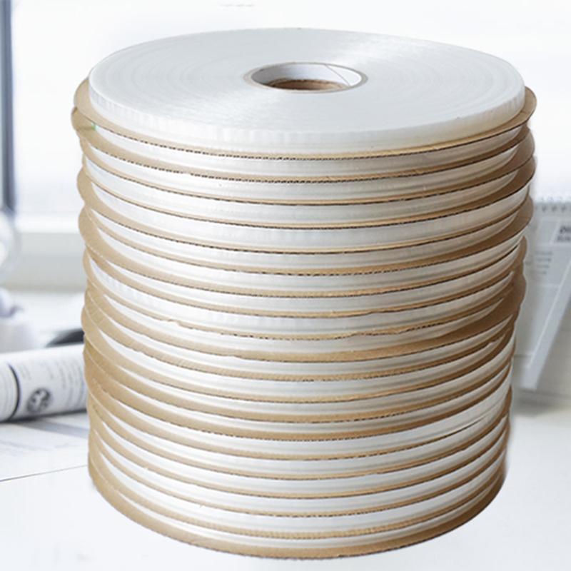 透明塑料袋自粘袋封缄胶带0.5胶宽13膜宽服装包装袋pe膜双面胶带
