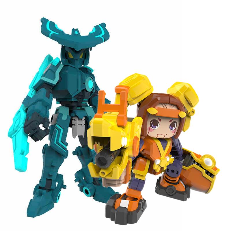 王者正品墨子鲁班手办万能匣变形机器人荣耀正版周边鲁班七号玩具