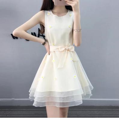 少女学生19岁仙气公主裙成年人蓬蓬裙甜美连衣裙夏小礼服仙女系裙