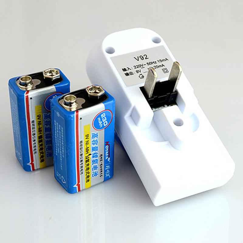 精明鼠9v充电电池套装6F22 9伏充电器可充九伏通用仪器网络测试仪
