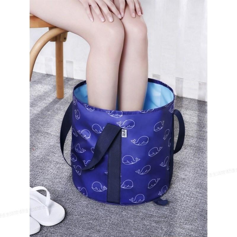 泡脚桶便携可折叠深吴昕同款月子大号张嘉倪泡脚盆便携式旅行高。