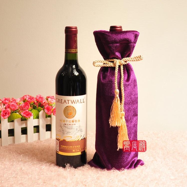 酒瓶套红酒白酒套酒瓶衣服包装绒布套盲品袋 可订做