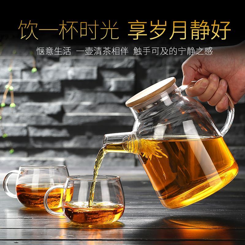 大容量冷水壶玻璃耐高温防爆凉水壶果汁凉杯茶壶家用瓶耐热凉水杯