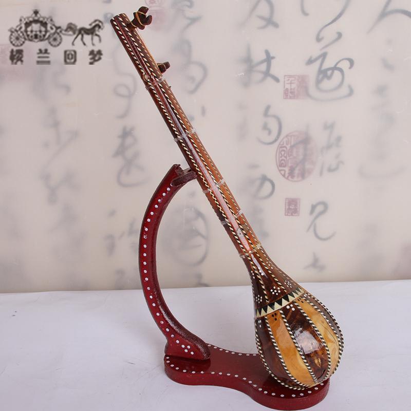 塔尔少数民族乐器模型摆件工艺品新疆都塔尔维吾尔族特色手工艺都