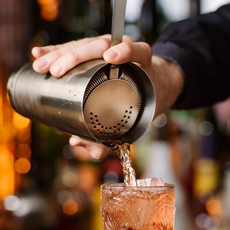 酒吧调酒师隔冰器 调酒吧传奇 调酒滤冰器 器 过滤网鸡尾酒滤冰