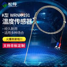 191铠装 K型热电偶电热偶WRNK 温度传感器可弯曲探头Pt100图片