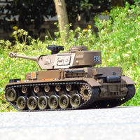 Remote control tank toy can be launched Wild car boy toy tank World War II German No. 4 tank 1:20