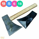 Hand axe hand forging clip steel axe woodworking tools single blade high carbon steel single side stick steel axe axe wood carving axe