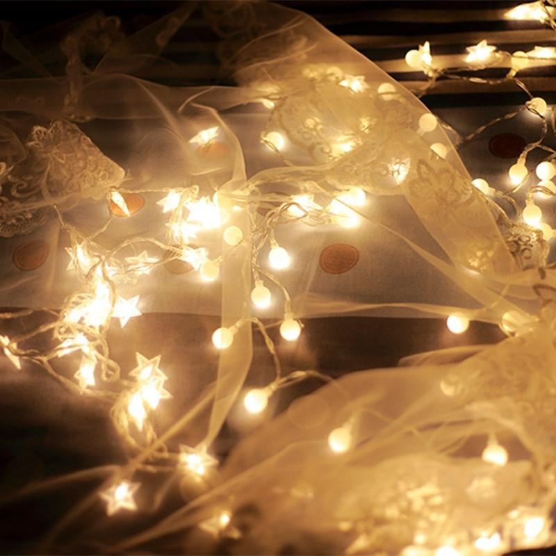卧室LED彩灯装饰网网红同款灯饰汽车房间新款同款小灯床头酒吧婚