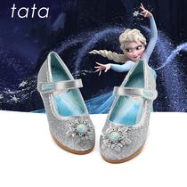tata女童皮鞋2019秋季新款冰雪奇缘公主鞋中小童演出单鞋水晶鞋女