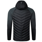 KELME/Calme Autumn and winter sports cotton clothing men's windproof warm running jacket stitching hooded cotton coat
