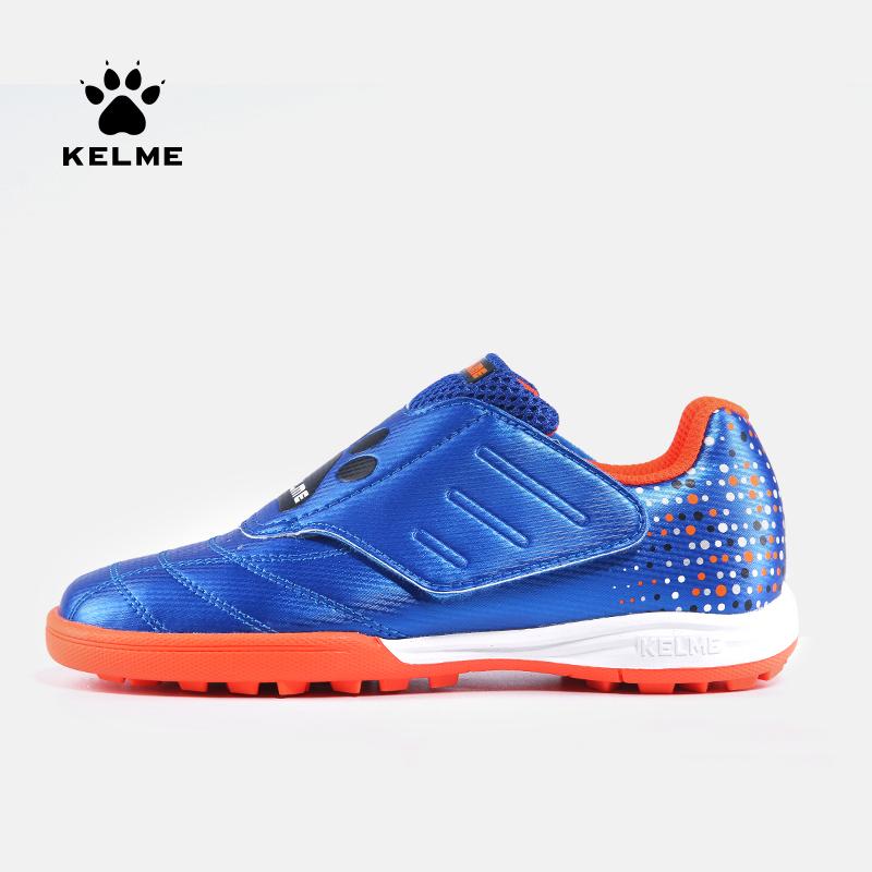 KELME卡尔美 正品儿童足球鞋男女魔术贴碎钉球鞋小学生训练鞋男童