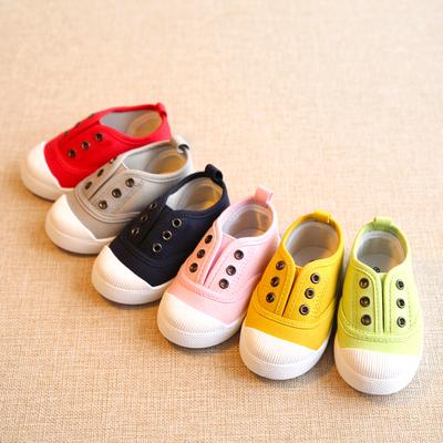 春秋季儿童帆布鞋男童女童宝宝单鞋小童鞋子1-3岁2一脚蹬球鞋板鞋