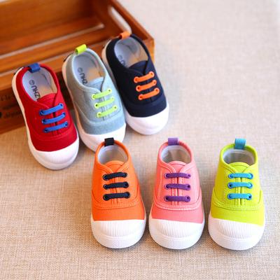 春秋儿童帆布鞋男童女宝宝球鞋板鞋小童单鞋鞋子1-3岁2懒人一脚蹬