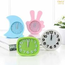 静音创意床头儿童学生闹钟现代简约卧室无声桌面日韩版夜光小台表