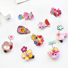 森米兔糖果色网红弹簧立体小发卡韩国小女生森系儿童彩色头饰夹子图片