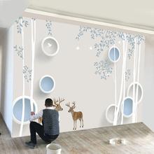 饰家用 3d电视背景墙壁纸8d立体壁画客厅现代简约墙纸5d影视墙布装图片