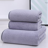Skew Moon Samsung Coral Fleece Towel Bathet Three-piece Set 2 Towels +1 Bath Towel Set