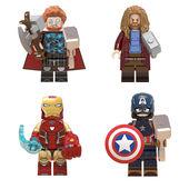 益智玩具乐高 复仇者联盟积木钢铁侠美国队长雷神斧头锤子盾牌拼装图片