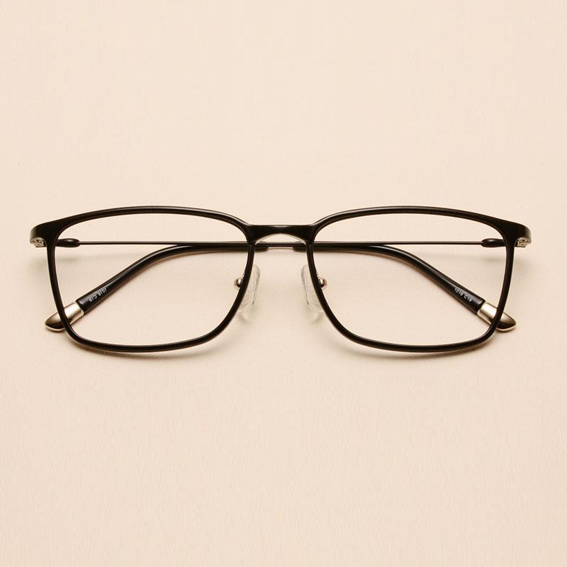 钨钛眼镜框 男