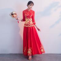 秀禾服新娘2018新款结婚礼服夏季和服女中式婚纱敬酒服旗袍裙薄款