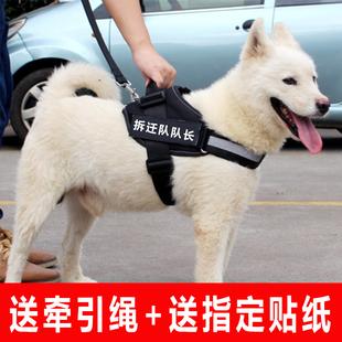 狗狗胸背带牵引绳狗链子中型犬大型犬金毛萨摩耶拉布拉多遛狗绳子